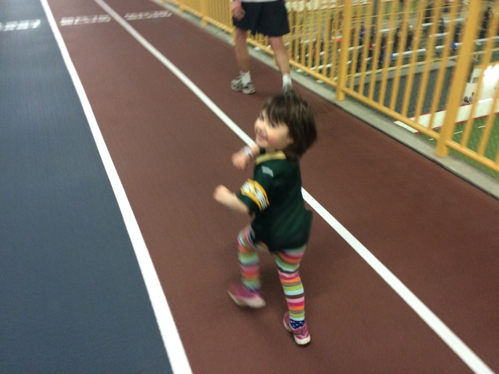 My daughter wanted to run with me on Saturday